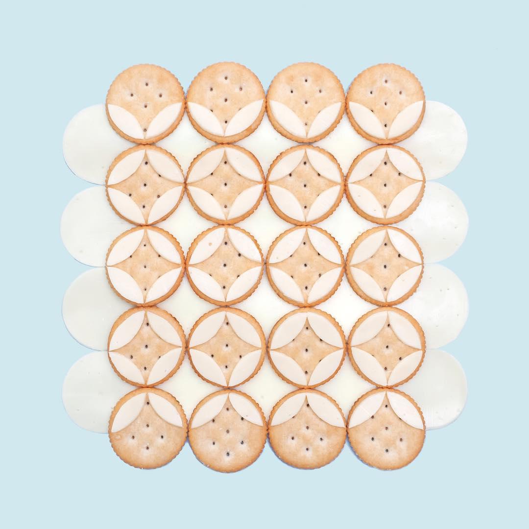 创意产品 | 艺术家Kristen Meyer用生活中常见的事物制作出几何规律图形
