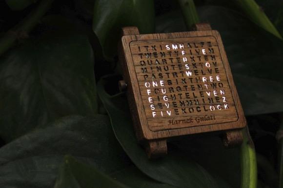 创意爆棚的木质手表
